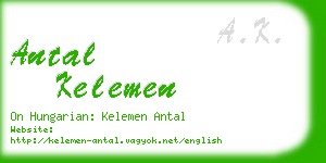 antal kelemen business card